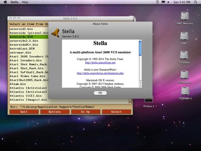 Stella 3.93 Atari 2600 VCS Emulator (2009)