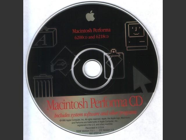691-0727-A,,Macintosh Performa 6200CD and 6218CD. SSW v7.5.1. Disc v1.0 (CD) (0)