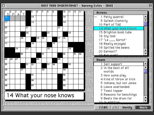 LYRIQ Crosswords (1994)