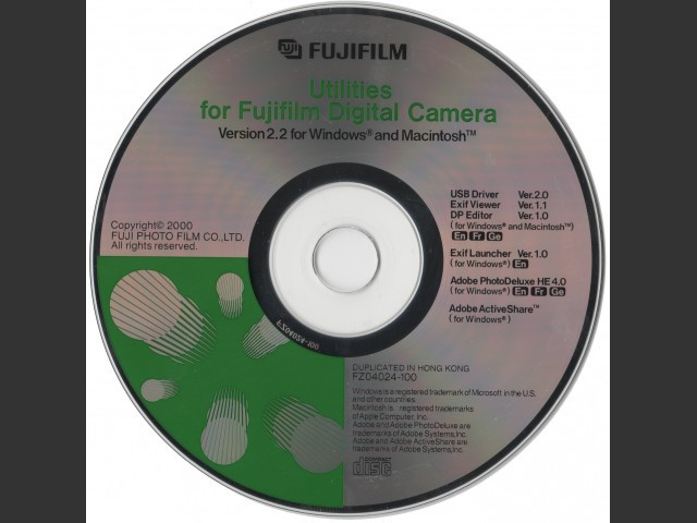Utilities for Fujifilm Digital Camera (version 2.2) (2000)