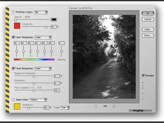 Convert to B/W Pro (Photoshop plug-in) (2003)
