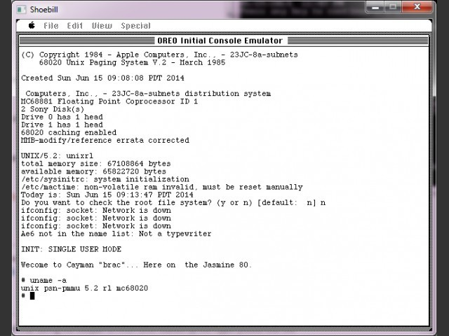 A/UX (Apple UNIX for 68k) version 0.7 (1987)