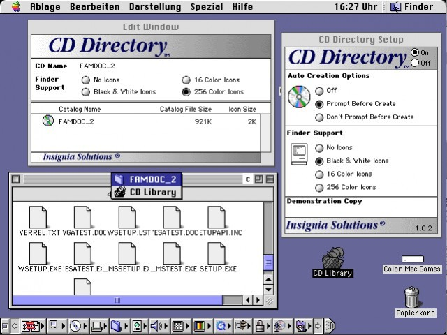 Connectix CD Directory (1994)
