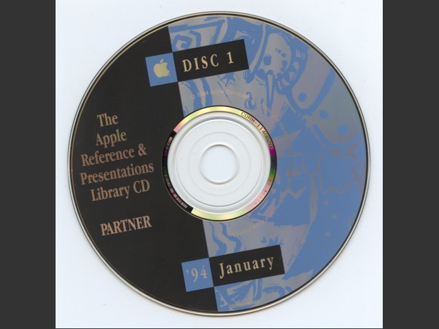 CDRM1146620,,Apple Reference & Presentations Library Disc. 1994-January (1994)