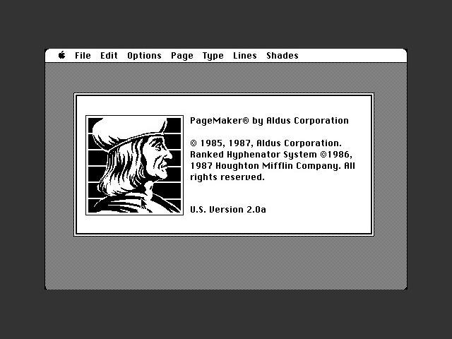 Aldus PageMaker 2 (1987)