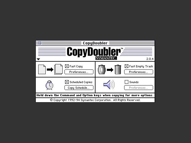 Symantec CopyDoubler 2.x (1993)