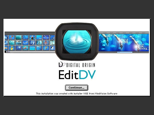EditDV 2.0 installer slash screen