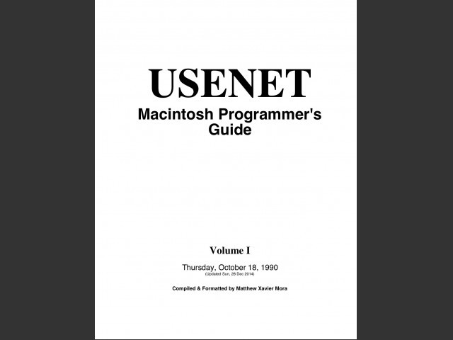 USENET Macintosh Programmer's Guide (1990)