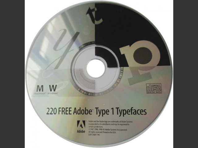 Adobe Type 1 Typefaces (1995)