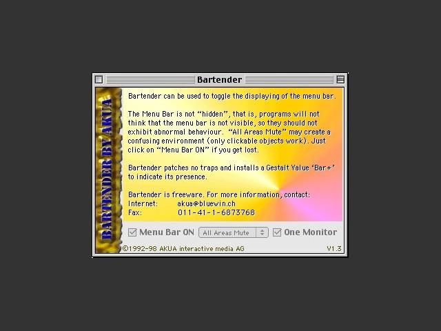 Bartender 1.3.1 (1998)