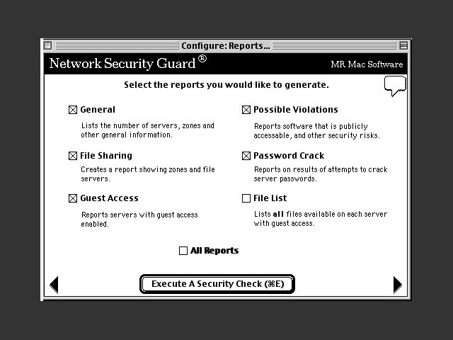 Network Security Guard 3.1 (NSG) for AppleTalk (1995)