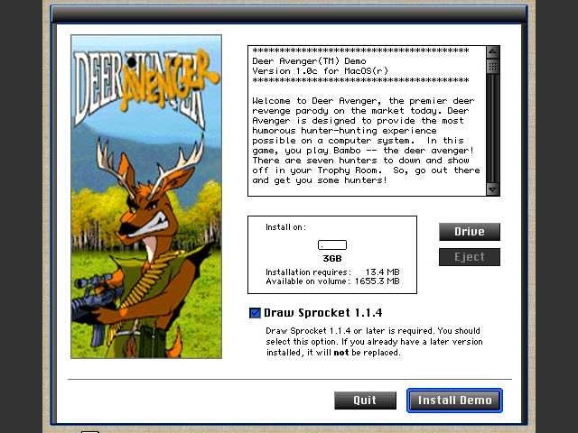 Deer Avenger Demo