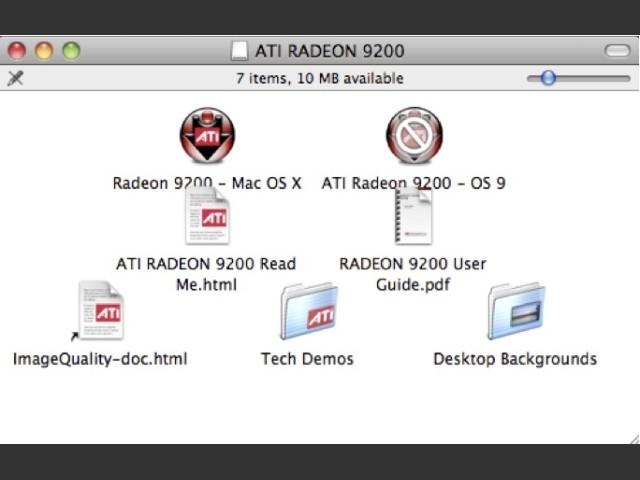 ATI Radeon 9200 Driver CD-ROM - Macintosh Repository