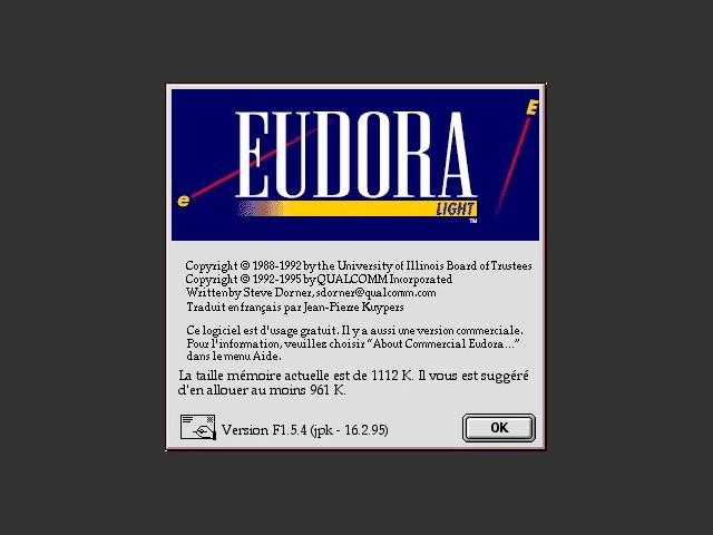 Eudora Light 1.5.4 (FR) (1996)