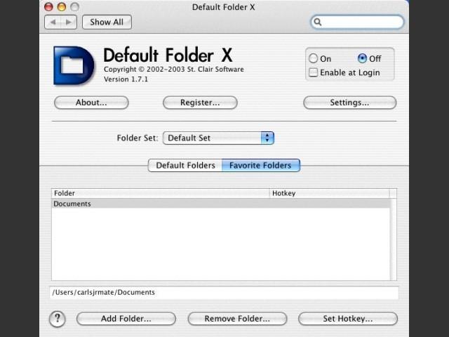 Default Folder X (2003)