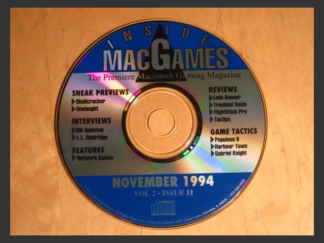 Inside Mac Games CD November 1994 (1994)