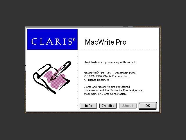 Claris MacWrite Pro 1.5 (1994)