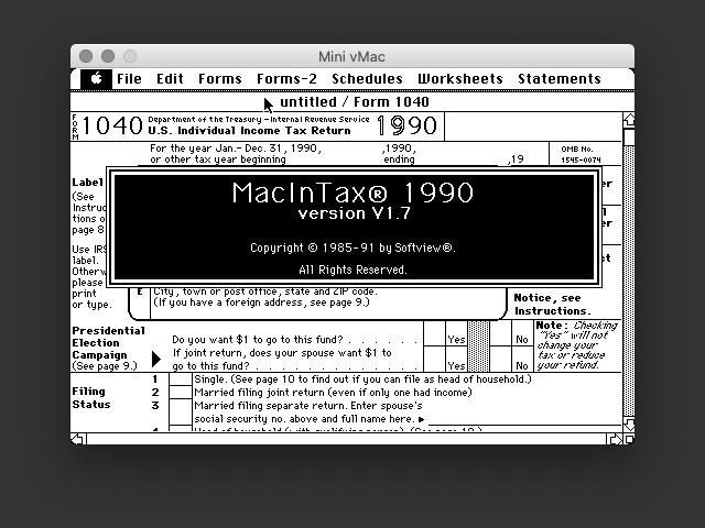 MacInTax 1990 (0)