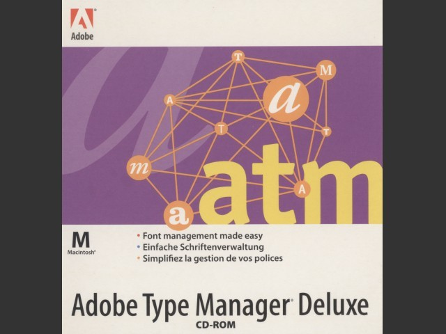 Adobe Type Manager Deluxe 4.0 (1997)
