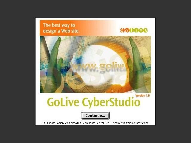 GoLive CyberStudio 1.0 (1997)