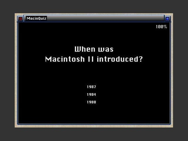 MacinQuiz - Frage