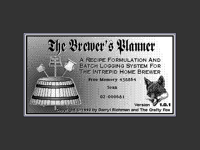 The Brewer's Planner (1992)