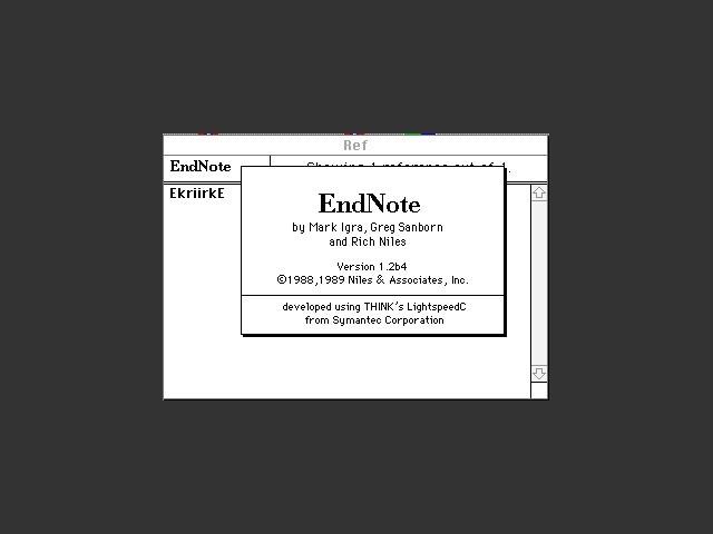 EndNote 1.2b4