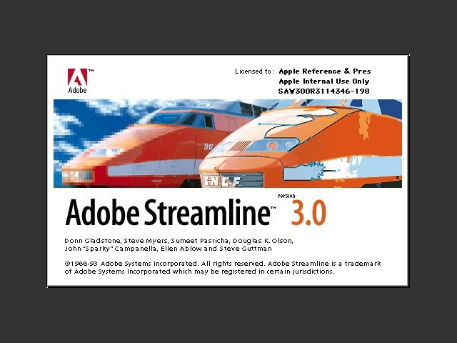 Adobe Streamline  3.0 (1993)