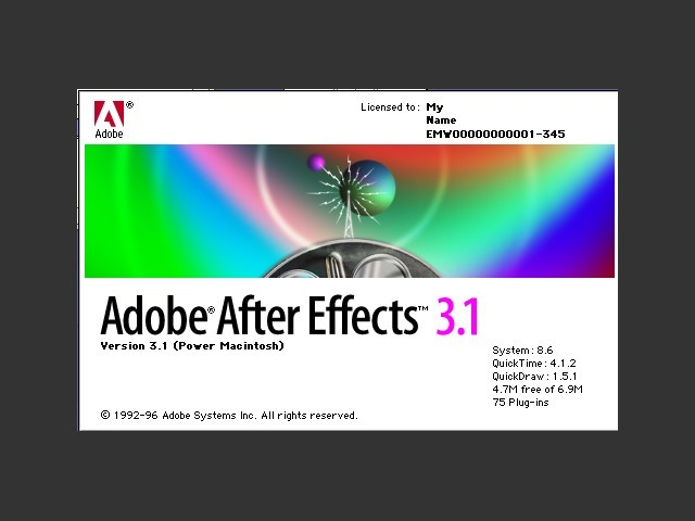 Adobe After Effects 3.1 (1997)