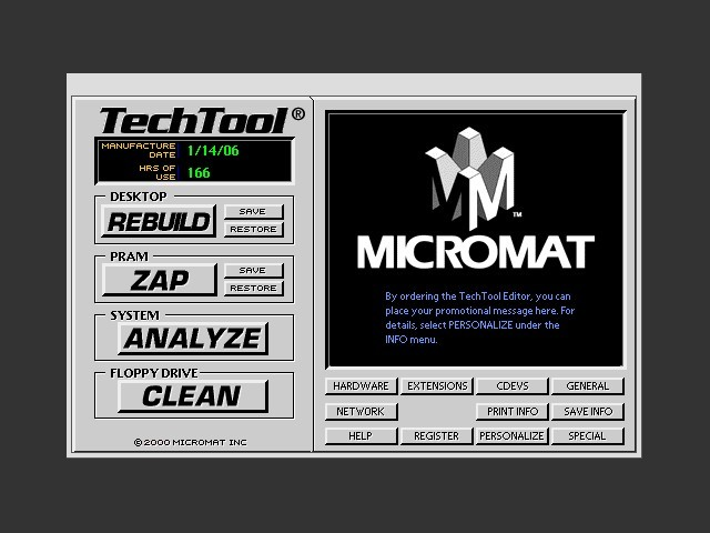 TechTool screen