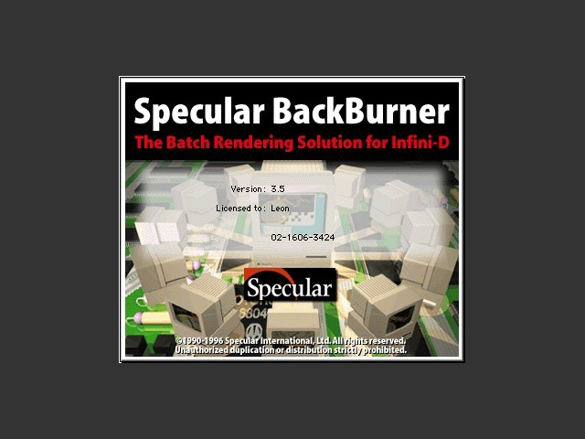 Specular BackBurner 3.5 (1996)