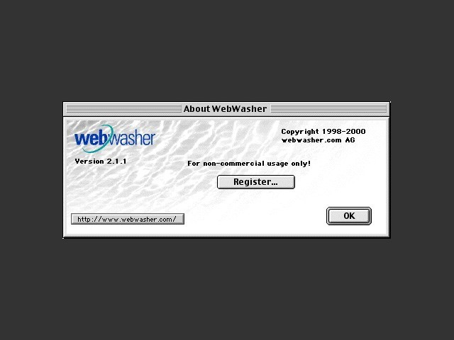 WebWasher 2.1.1rc (2000)