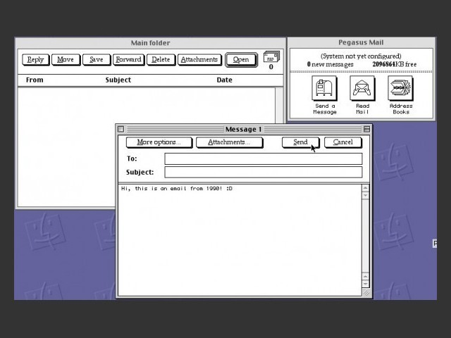 Main interface (composing a new message)