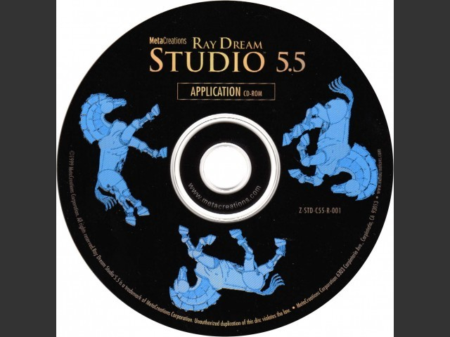 MetaCreations Ray Dream Studio 5.5 (1999)