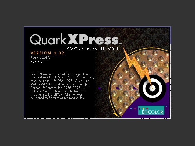 QuarkXPress 3.32 Smart disk/CD installation (1999)