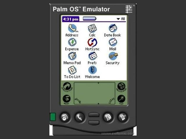 Palm OS Emulator Screen