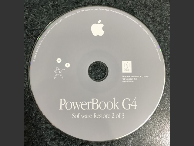 691-3079-A,,PowerBook G4 Install & Software Restore (3 CD