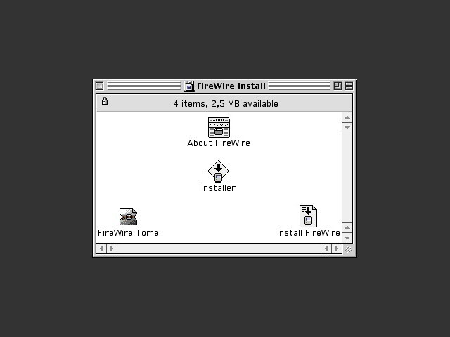FireWire 2.3.3 disk contents