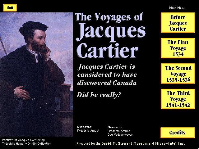 Les Voyages de Jacques Cartier (Bilingual EN/FR) (1992)