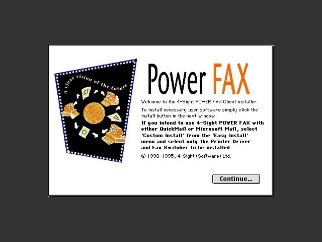 Power FAX / Installer splash screen
