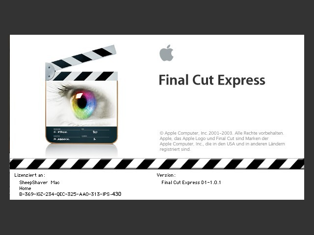 Final Cut Express 1.0.1 (DE) + Tutorial DVD (EN) (2003)