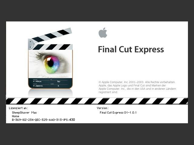Final Cut Express 1.0.1 (DE) + Tutorial DVD (EN) (2003)