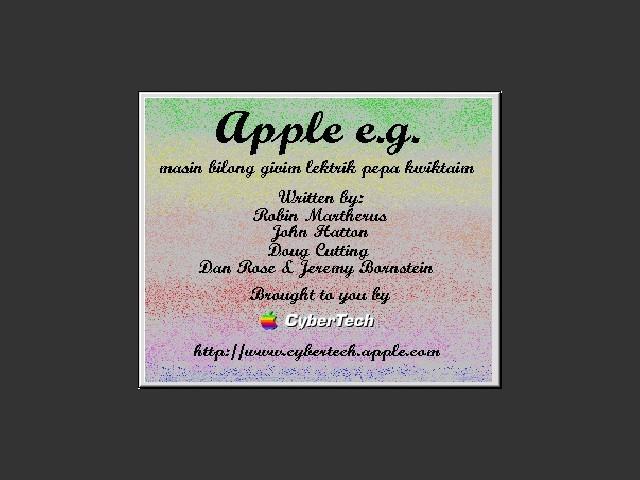 Apple's e.g.