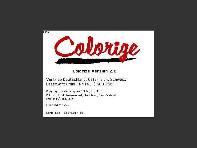 Colorize 1.2.6c + 2.01 (1994)