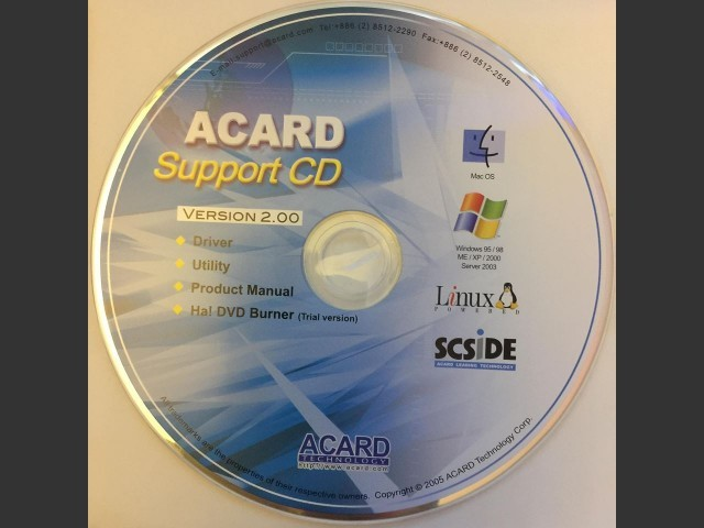 ACARD Support CD Version 2.00 (2005)