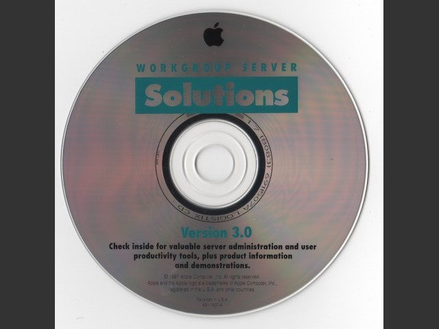 Apple Workgroup Server Solutions Version 3.0 (1997)