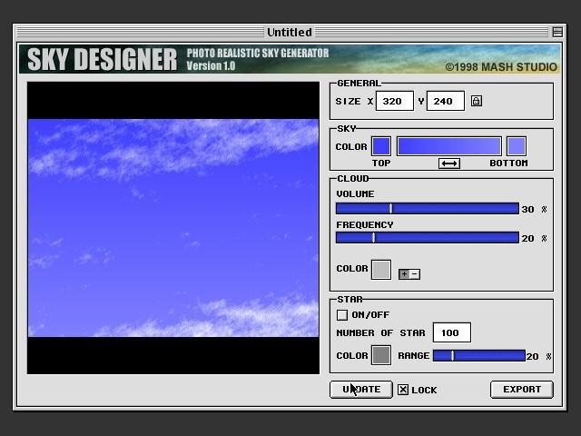 Sky Designer 1.0 (1998)