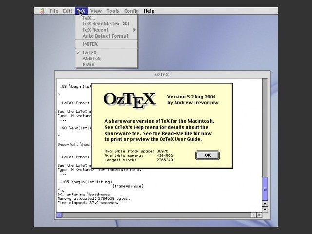OzTeX 5 (2004)