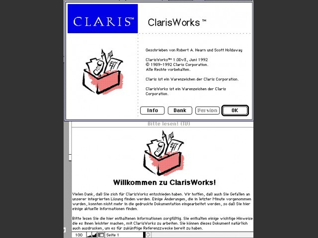 Claris Works 1.0Dv3 (1992)