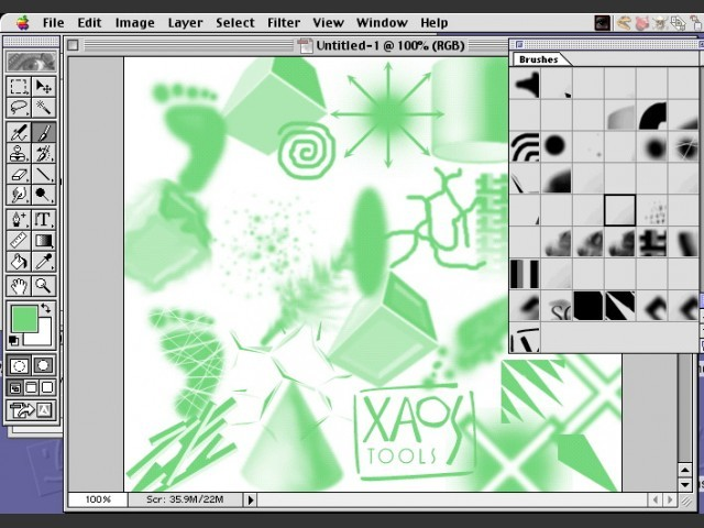 Photoshop brushes: 50 more by Xaos (1996)
